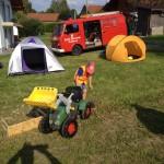 1. Kinder- und Jugendtag mit Lagerfeuer und Zelten